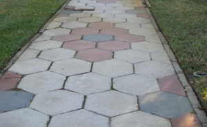 One element that makes historic Old Northeast St. Petersburg historic are the hexagon sidewalks.